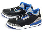 Nike Air Jordan 3 III Retro Black/Sport Blue-Wolf Grey Cement 2014 136064-007