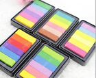 DIY Multi Colors Ink Pad Oil Based For Rubber Stamps Paper Wood Craft EF258