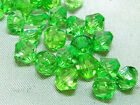 6mm 200/400/600/800/1000pcs GREEN FACETED ACRYLIC LUCITE BICONE BEADS TY3003