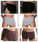 Mens sexy Lingerie Medium Rise Stretch sheer underwear Sleep Shorts Pant Pyjamas