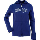 Antigua Women's Kansas City Royals Signature Hood Applique Full-Zip Sweatshirt