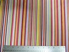 Multi Coloured Stripe patterned Fabric cotton