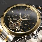 Ks Automatic Mechanical Mens 6 Colors Tourbillon Date Day Month Wrist Watch Gift