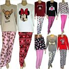 Pyjamas PJS Disney Thick Fleece Women's Ladies Size 6-8 10-12 14-16 18-20 NEW