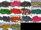 Wooden 8mm x 6mm Round Beads - Multi Colour Listing -   Qty 150