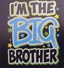 I'M THE BIG BROTHER WITH LIGHT BLUE Black Tee Sizes 2-4 thru 14-16