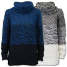 Ladies Roll Neck Jumper Brave Soul Womens Cable Knitted Pullover Casual Winter