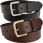 "Carhartt Leather Belt Mens 1-1/2"" Journeymen Belts Removable Buckle Black Brown"