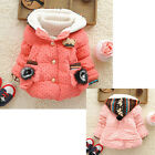 Baby Kids Girls Winter Clothes Outwear Jacket Snowsuit Hooded Coat Dot Outer