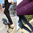 Women Skinny Colorful Jeggings Stretchy Sexy Pants Leggings Pencil Tights Lace