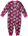Girls Monster High Candy Skull Popper Sleepsuit Romper Pyjamas 4-10yr NEW