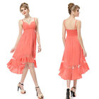 Ever Pretty Fashion Hi-Low Coral Summer Casual Short Simple Party Dresses 05011