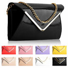 WOMEN LADY CLUTCH EVENING WEDDING LEATHER HANDBAG PURSE ENVELOPE PROM PARTY BAG