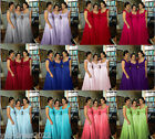 New Stock Chiffon Bridesmaid Full Length Prom/Party/Evening Gown 6 8 10 12 14 16