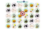 30 x Halloween Design Edible Rice Paper or Icing Cup Cake Topper