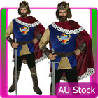 Adults Mens Noble King Medieval Snow White Prince Charming Fancy Dress Costume