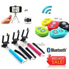 Stylish Handheld Selfie Monopod + Bluetooth Remote Shutter For iPhone Samsung
