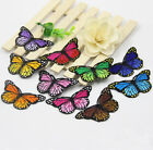 10pcs six colors Butterfly Embroidered Appliques/scrapbook iron/sew cloth patch