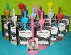 ✿ MONSTER HIGH DIARY BOOKLET & COLOR STAND BUNDLE LOT PINK YELLOW SILVER RED ✿
