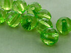 8mm 100/200/300/400/500pcs CLEAR GREEN FACETED ACRYLIC LUCITE ROUND BEADS TY2353