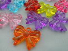 23x30mm 5/10/../50pcs CLEAR RANDOM ASSORTED ACRYLIC LUCITE BOW TIE CHARMS T02590
