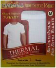 2 PAIRS MENS THERMAL VEST T-SHIRT BRUSHED WITH HEAT TRAP UNDERWEAR IN 4 COLOURS