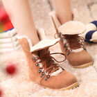 Womens boots red wing boots Winter Snow boots Lace Up Army Flat Fur work shoes