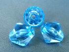 10mm 50/100/200/500pcs SKY BLUE FACETED ACRYLIC LUCITE BICONE BEADS TY2243