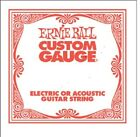 Ernie Ball Slinky Single Strings - Plain All Guages (Pack of 6)