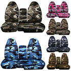 CC 98-03 FORD RANGER ARMY CAMO CAR SEAT COVERS 60-40 seat+CONSOLE COVER,CHOOSE