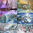 14ctComplete Counted Cross Stitch Kits Winter Snow Landscapes villages, churches