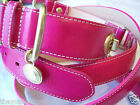 New COACH SET HOT PINK TURNLOCK EXTRA SMALL SMALL DOG CAT PET COLLAR LEASH XS S