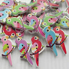 E633 10/50/100/500pcs Birds On Branches Wood Buttons 35mm Sewing Craft Mix Lots