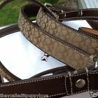 NEW COACH CHOCOLATE BROWN MAHOGANY SMALL  DOG LEASH S COLLARS AVAILABLE
