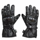 Motorcycle gloves motorbike gloves 100% FULL LEATHER Road bike Gloves Waterproof