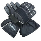 ROXTER BLACK MOTORCYCLE BIKE SCOOTER 100% WATERPROOF HIPORA WINTER GLOVES PADDED