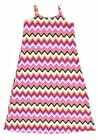 Chillipop Girls Pink & Multi-Color Zig Zag Printed Stretch Dress Size 4 5/6 6X