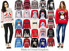 Ladies Womens Vintage Sweater Olaf Novelty Knitted Winter Christmas Jumper Tops