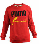 Puma Crew Neck Cotton Red Jumper Sweat Mens (571880 04)