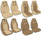 Brown and Tan Paw Print Combonations Jeep Wrangler Seat Covers 1987-2001