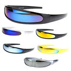 Halloween Color Mirror Lens Monolens Cyclops Robotic Futuristic Sunglasses
