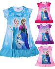 Frozen Princess Elsa Anna Girls Kids Pyjama Nightie Dress 3-10Years 4Colors WXM