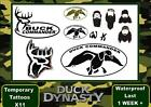 DUCK DYNASTY  fancy dress arm body TATTOOS waterproof  LAST1 WEEK+
