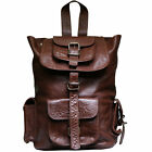 VIPARO Dark Tan Buffalo Leather Adair Backpack Rucksack Bag - Adair