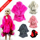 GIRLS  FAUX FUR  TOWIE HOODIE PONCHO CAPE CARDIGAN KIDS SIZE YEARS 4 - 16