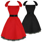 Hearts & Roses London Womens Ladies New Vintage 50S Retro Party Prom Pinup Dress