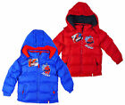 Boy's Marvel Ultimate Spiderman Puffa Style Hooded Winter Coat 3 4 6 8 Years NEW