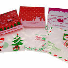 X'mas Christmas Cookie Candy Party Gift Bags with Self-Adesive, Pakc of 95
