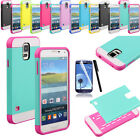 Hybrid High Impact Dual Layer Hard Case Cover For Samsung Galaxy S5 S V i9600