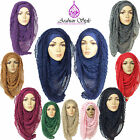 PLEATED MAXI LARGE HIJAB SCARF SHAWL ABAYA SARONG****